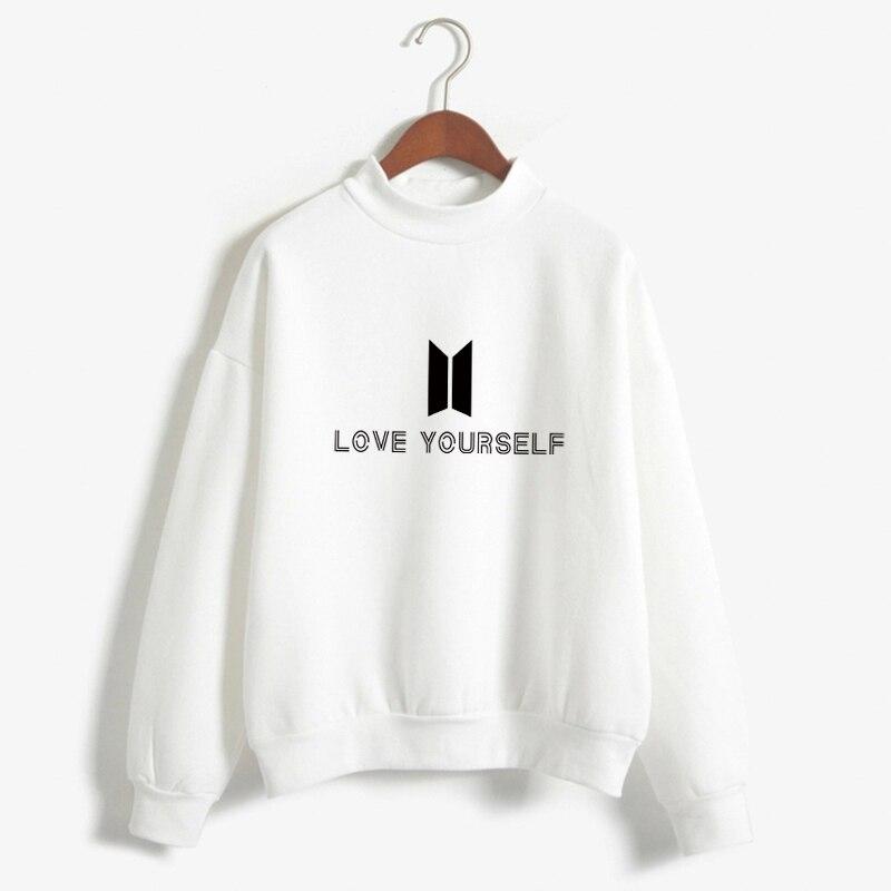 BTS amor usted mismo K pop mujer Hoodies sudaderas Bangtan boys Outwear hip-hop Hoodies nuevo k-pop chándal envío de la gota