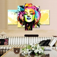 Wall Art Hand-painted Oil Painting  Artistic Abstraction  Marilyn Monroe  Hot Home Decoration Painting Five Paintingsmyt-30