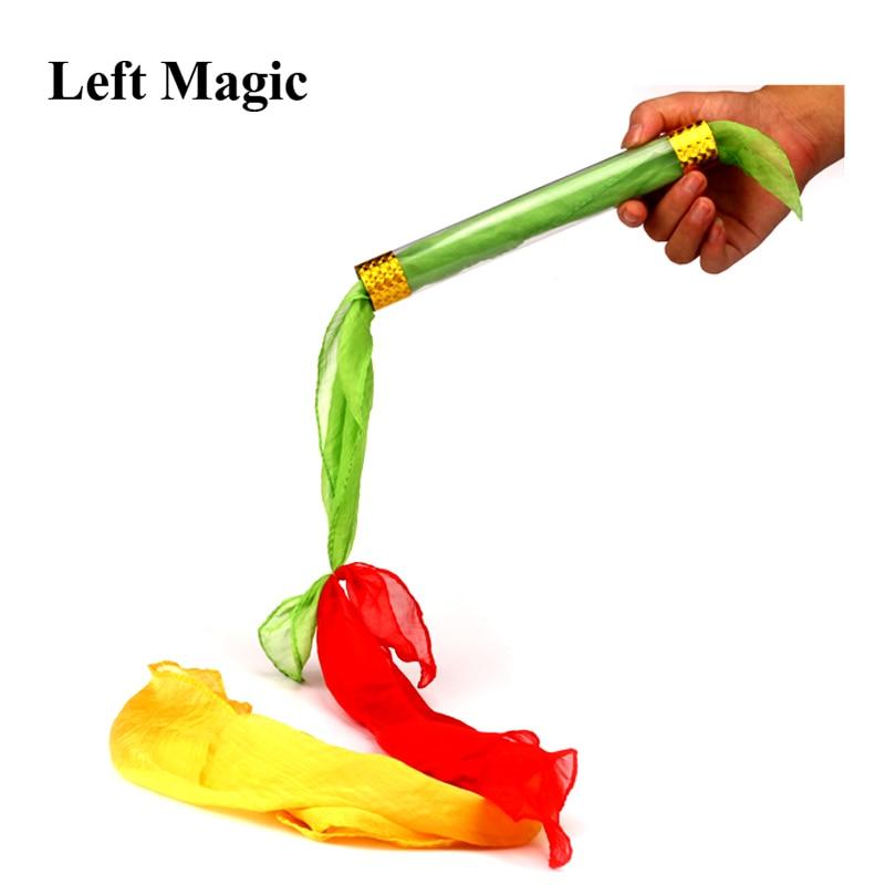 Čarobni triki s svileno povezavo Tube Letenje Povezane Tube Magic rekviziti Stage Gimmick Dodatki rekviziti Komedije Iluzijske igrače