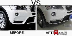 Для BMW X3 F25 2011 2012 2013 ABS хром внешняя передняя противотуманная фара светильник Накладка 4 шт глянцевая