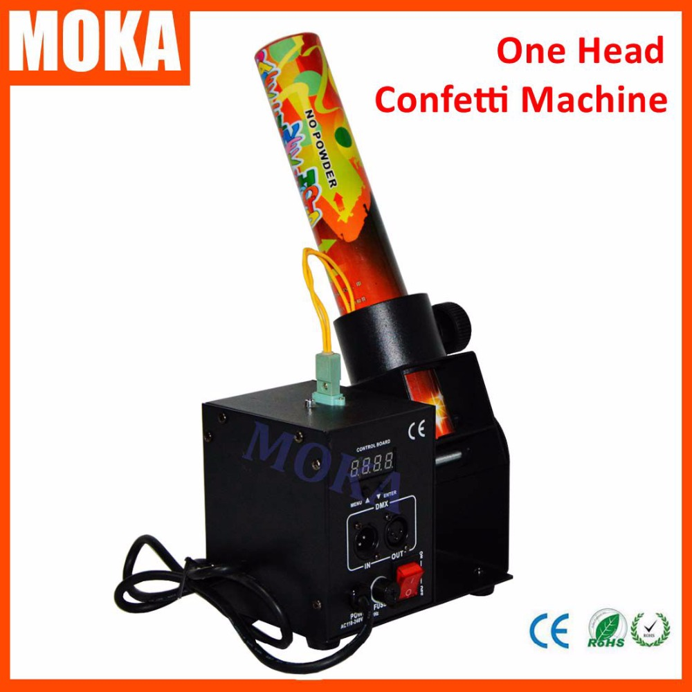 Mini Single Head Confetti Machine Paper Cannon Wedding Stage Machine paper cannon confetti machine 4 head confetti shooter with special effects continuous flow confetti cannon