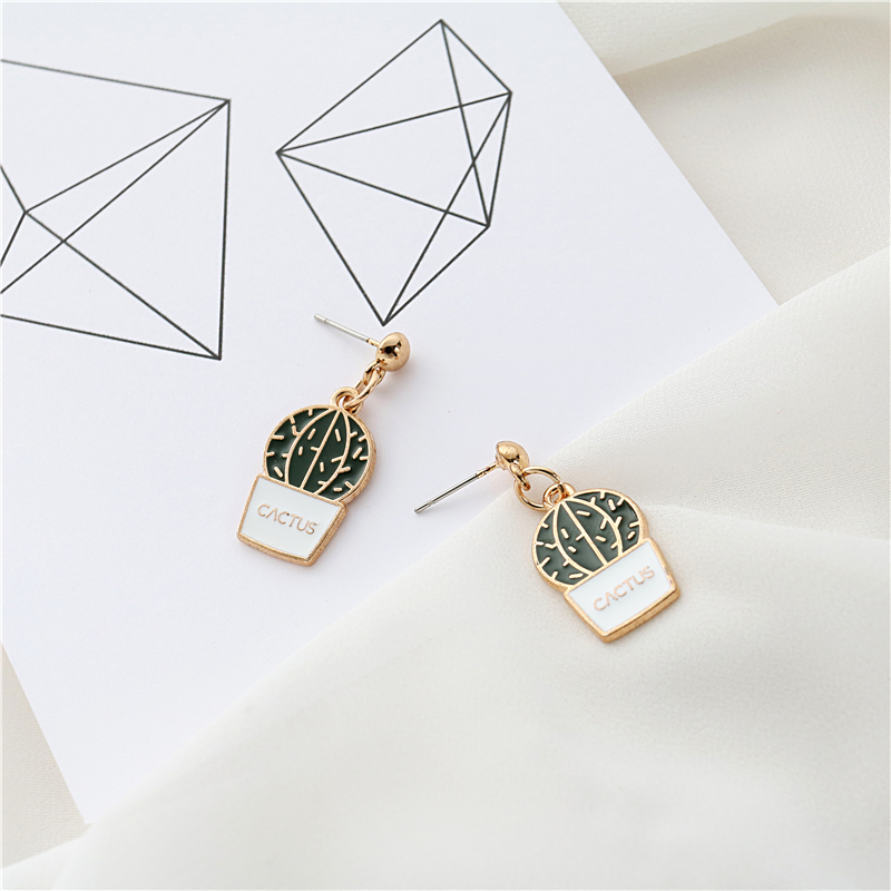 Cactus Potted Style Earrings