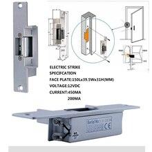 MAOTEWANG 7″ RFID Password Video Door Phone Intercom Doorbell With IR Camera 1000 TV Line With NO-Electric Strike Door Lock