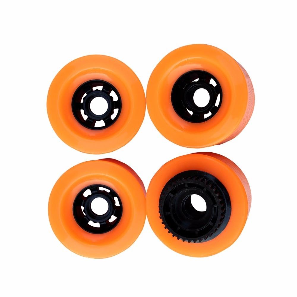 1pcs 90mm Pu Wheels With Gear E-Skateboard Wheels Longboard Wheels SHR83A Hardness 90X52 High Rebound For Patineta Electrica