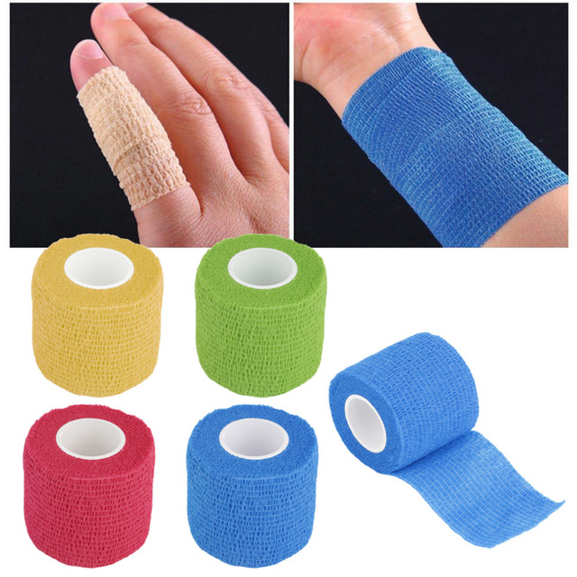 Self-Adhering Bandage Wraps Elastic Adhesive First Aid Tape Stretch 5cm free shipping