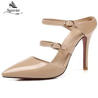 SGESVIER Summer Women Sandals Ladies Thin High Heel Pointed Toe Slippers Sexy Women S Shoes Fashion