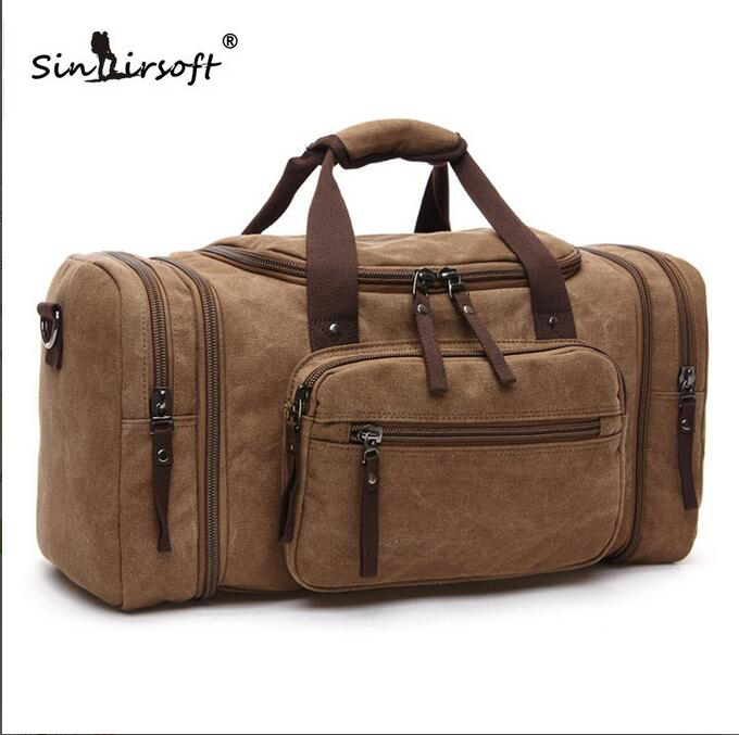 ФОТО 2017 new style High quality Luggage Package Canvas Single Shoulder Satchel Shoulder bag Tide Will Capacity Travelling Bag