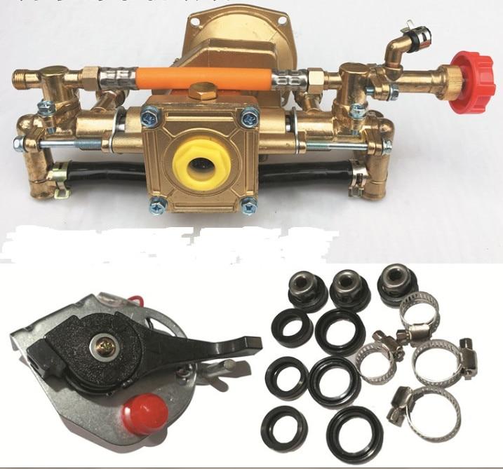 Sprayer standard brass pump body for 2 4 Stroke engine durable spare parts knapsack power sprayer