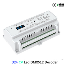D24 24 Channel CV Led DMX512 Decoder;DC5-24V input;3A*24CH PWM output DMX512 RGB strip controller цена