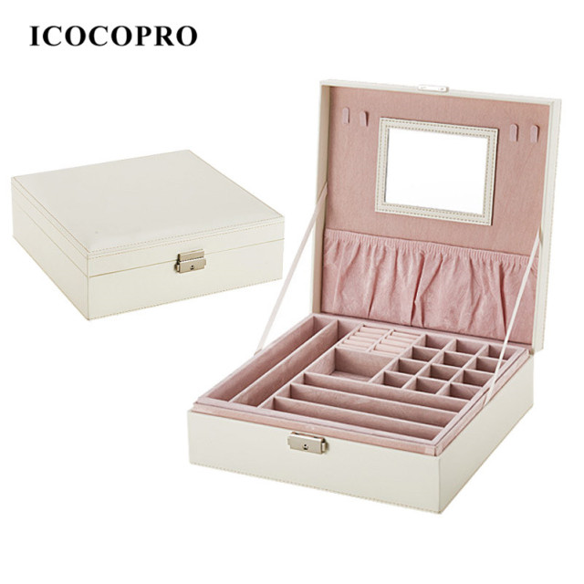 ICOCOPRO Makeup Case For Lipstick Jewelry Box Holder And Watch