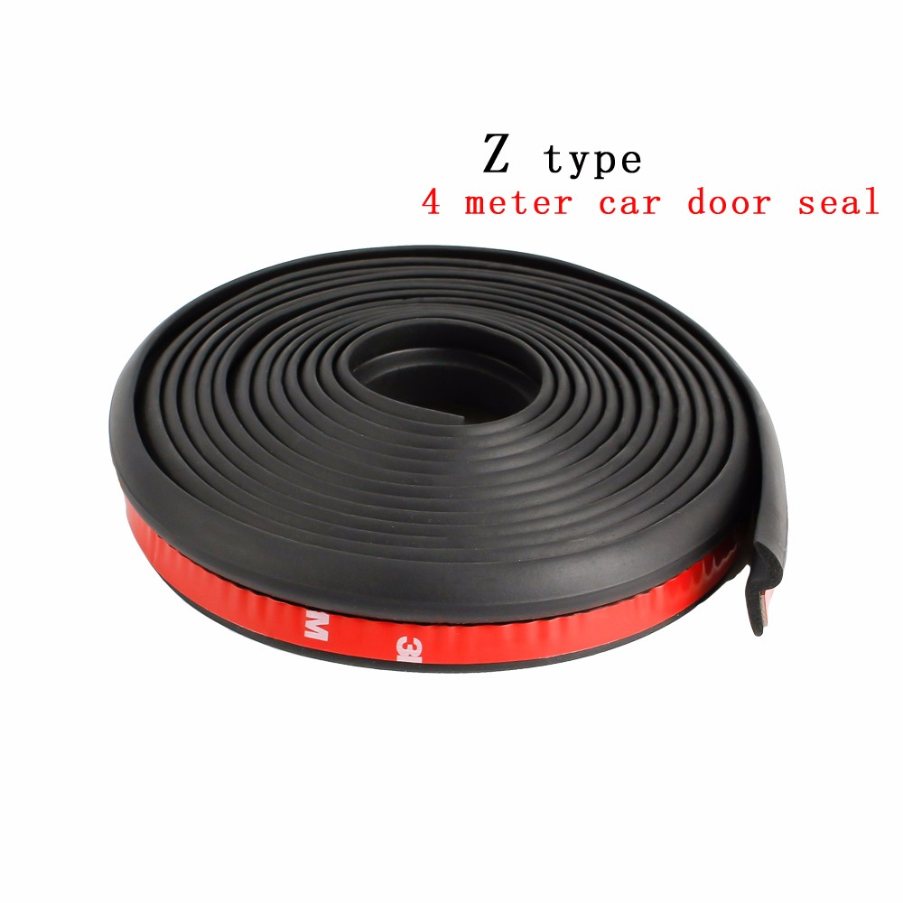 Cnspeed 4meter Z Type 3m Adhesive Rubber Weatherstrip Edge