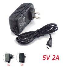 Micro Usb AC DC Power Adapter 5V 2A EU US Plug 100V 240V 2000mA Charger Supply