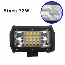 ECAHAYAKU offroad 5inch 72W LED Work Light Bar Spotlight 12V 24V CAR truck SUV BOAT ATV 4X4 4WD trailer wagon driving led lamp 14inch offroad led work light bar combo beam 12v 24v car auto ute suv atv wagon camper trailer truck 4x4 4wd pickup driving lamp