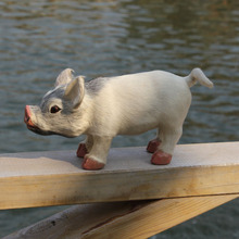 100% Handmade Fur Covered Plastic Artificial Pig Toy For Sale