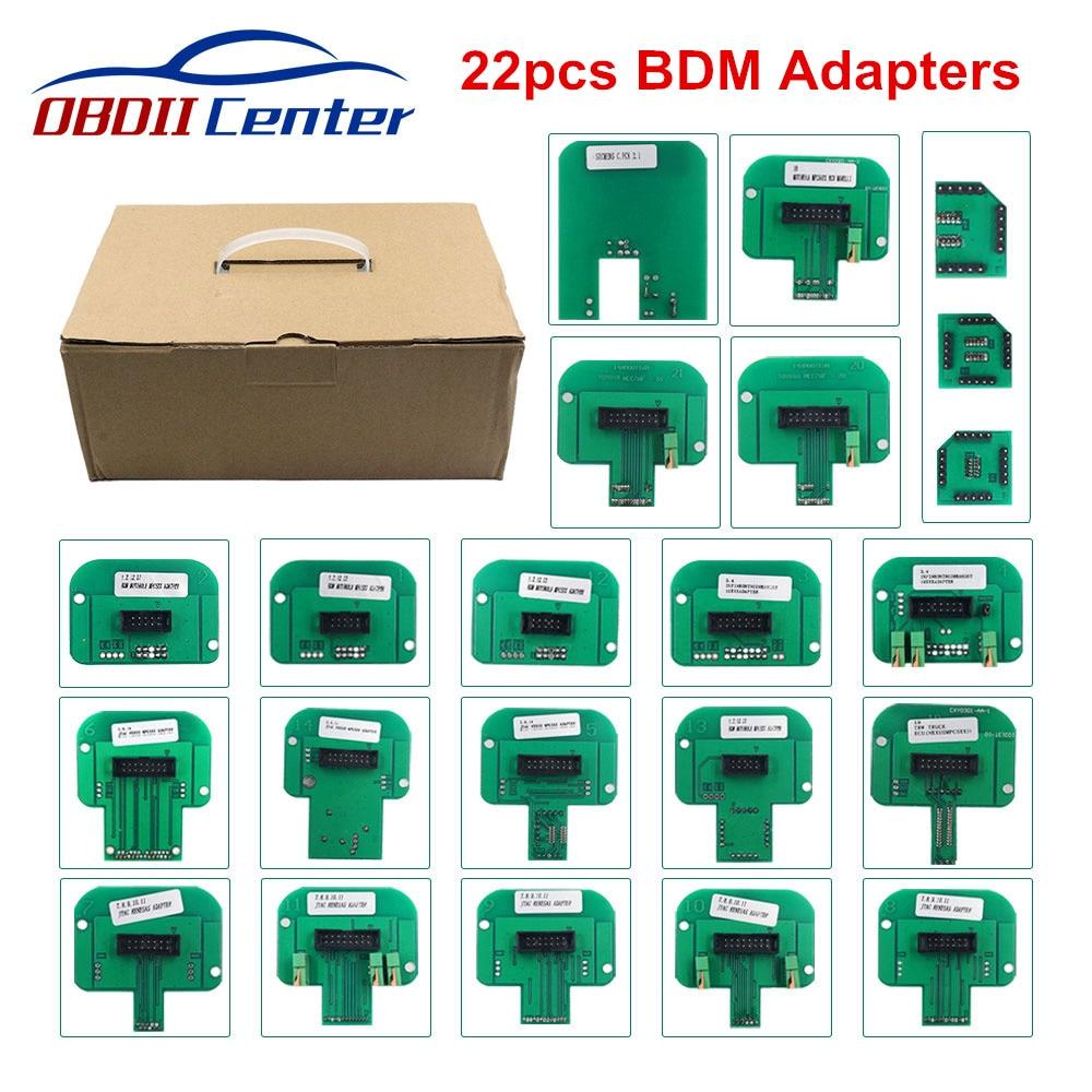 Full 22pcs BDM Frame Probes Adapter LED BDM Frame ECU RAMP Adapters For Ktag KESS V2 BDM100 Fgtech KTM Dimsport BDM Probe Set
