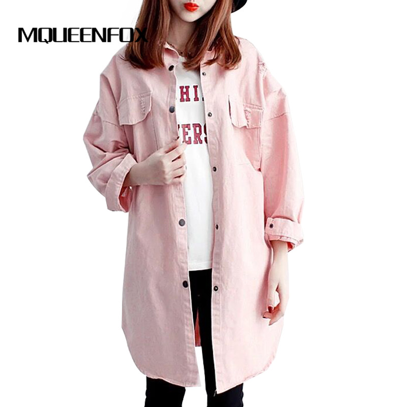 Hot 3 Color Fashion Women Trench Coat 2018 New Spring Autumn Plue Size Loose trench Candy colors windbreaker female Large Size