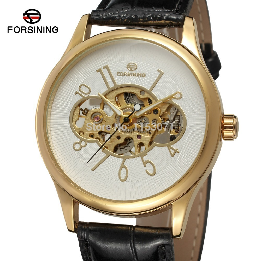 gold and black watch page 32 anne klein gold fashion new mechanical watch fsg8094m3g5 men watches gold color case white color gold color arab numbers skeleton black leather fashion