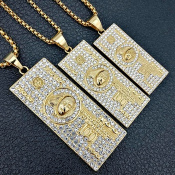 US $100 Dollar Money Necklace & Pendant 1