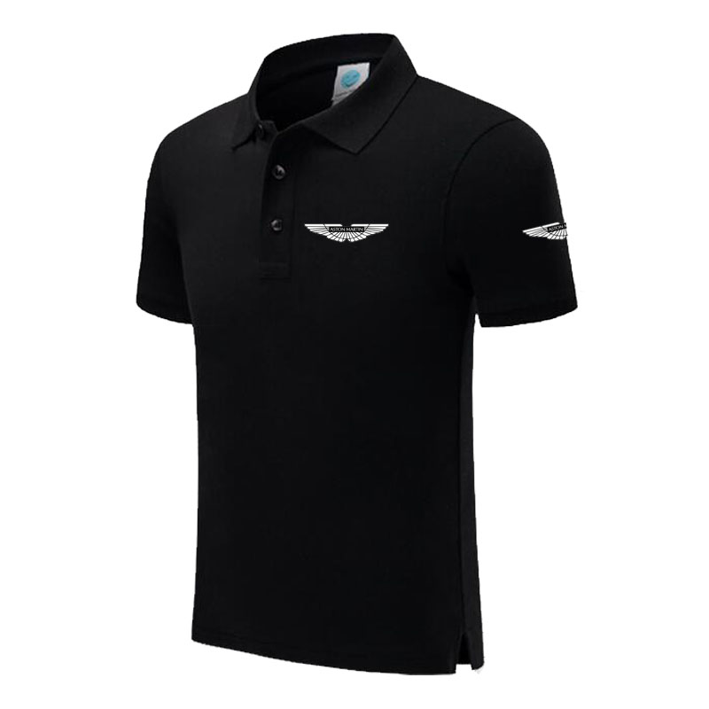 New Brand Aston Martin logo   polo   shirt Men Short Sleeve Mens Cotton   Polo   Homens printed Casual   polo   shirt