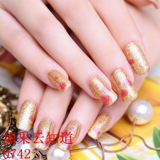 3d Gold Nail Stickers 12pcssheet Glitter Nail Art Decoration Tools