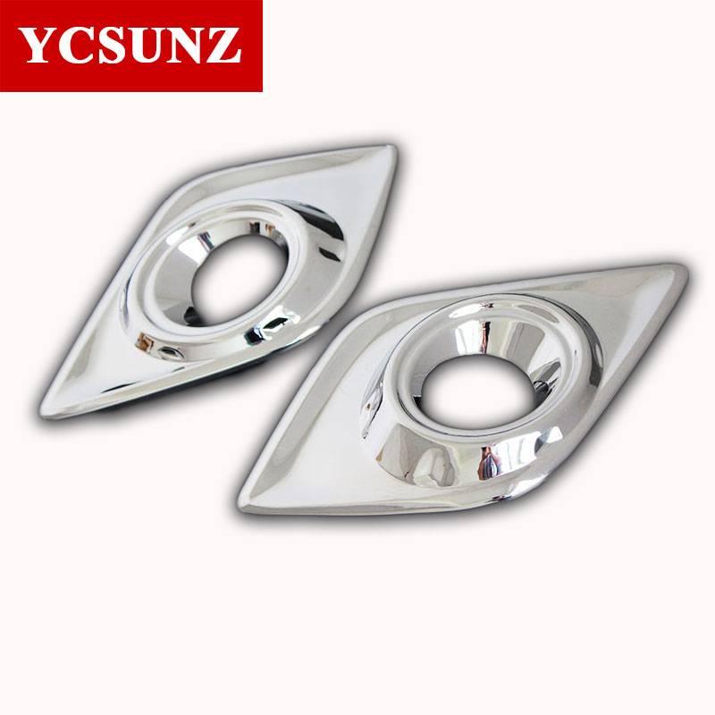 Car Accessories Chrome Surround Fog Lights Cover Trim For Toyota Hilux Revo 2016 2017 2018