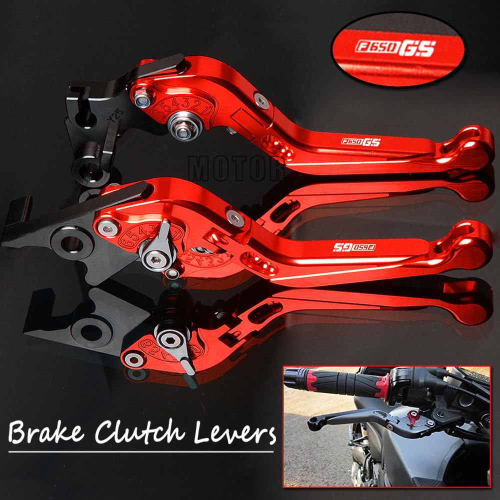 цена на Motorcycle CNC Brake Clutch Levers For BMW F650GS 2008-2012 F650GS/Dakar 2000-2007 Adjustable Folding Extendable F650 F 650 GS