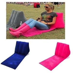 Image 5 - インフレータブルビーチマット祭キャンプウィッカーパティオラウンジチェアバック空気ソファ枕クッション椅子ラウンジクッションポータブルリラックス