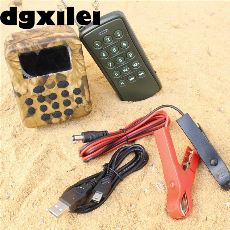 Built-in 210 Sound 1~200m Remote Controller With Timer Outdoor Hunting Bird Mp3 Caller Louder Speaker Decoy