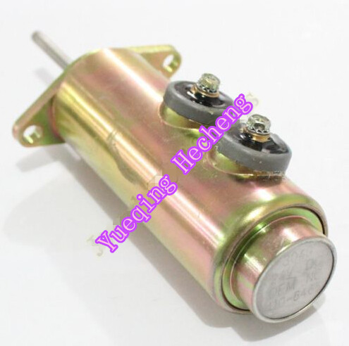 Fuel Shut Off Solenoid Valve 6T-4122 For 110-6465 24V розовый цвет 6t