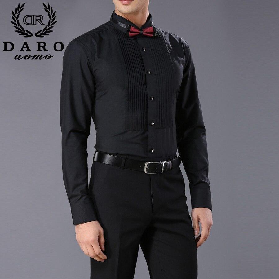 long sleeve pure color male tuxedo shirt 2