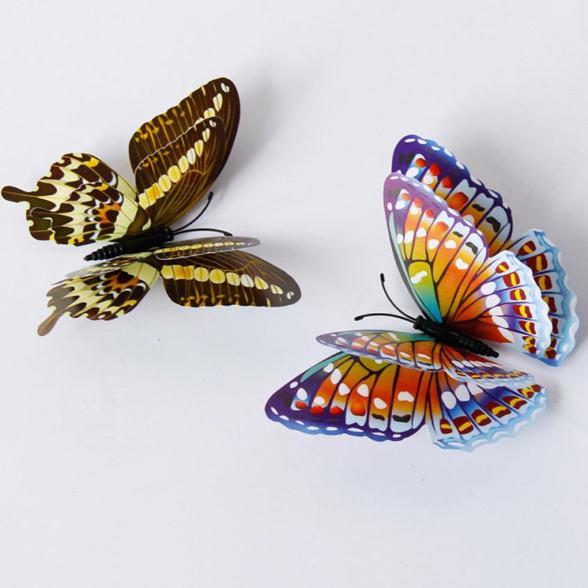 Wall Sticker Adesivo De Parede 3D Butterfly Creative Pattern Stickers Home Decor Living Room DIY Wallstickers 18JAN31