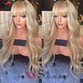 New 180% Density Blonde Full Lace Wig #27 Honey Blonde Lace Front Wig Human Hair Blonde Human Hair Wig Full Lace Wig With Bangs