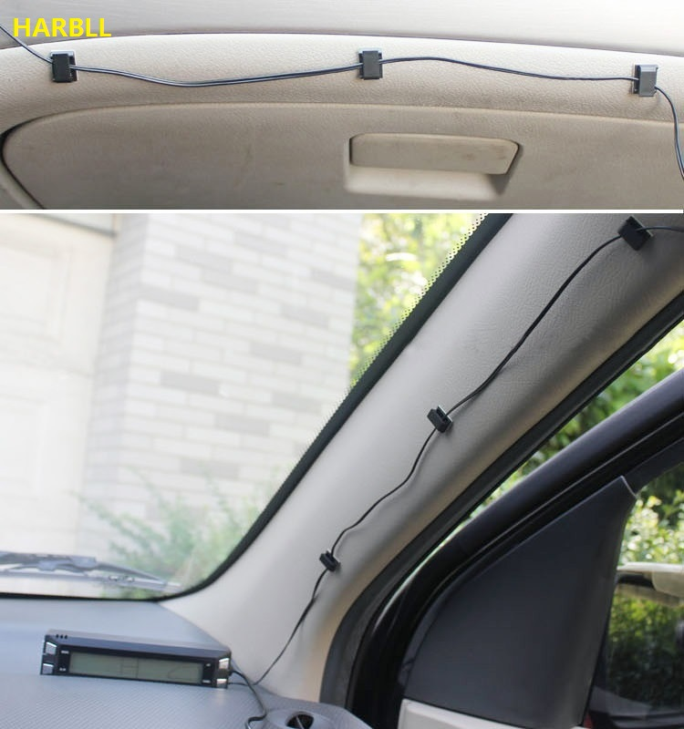 HARBLL 30 PCS SET Car Wire Cord Clip Cable Holder Tie Clips Fixer Organizer Drop Adhesive