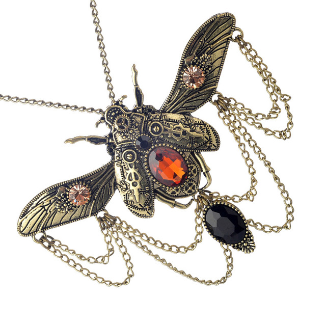 Insect Beetle Steampunk Necklace3