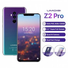 """UMIDIGI Z2 Pro 6.2Full screen smartphone Android 8.1 6GB+128GB Helio P60 16MP Quad Lens 4G LTE NFC Wireless charge Mobile phone"""""""