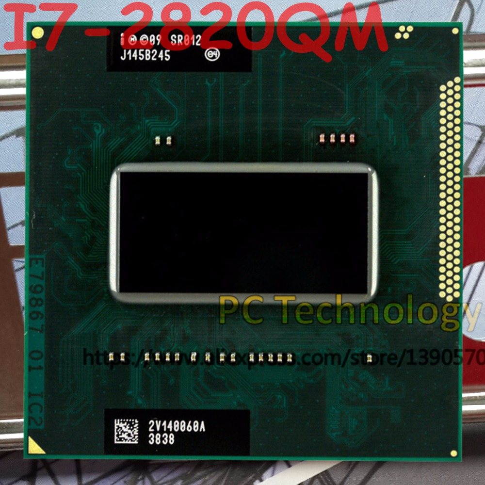 Original Intel Core I7 2820QM SR012 CPU I7 2820QM processor FCPGA988 2 3GHz 3 4GHz L3