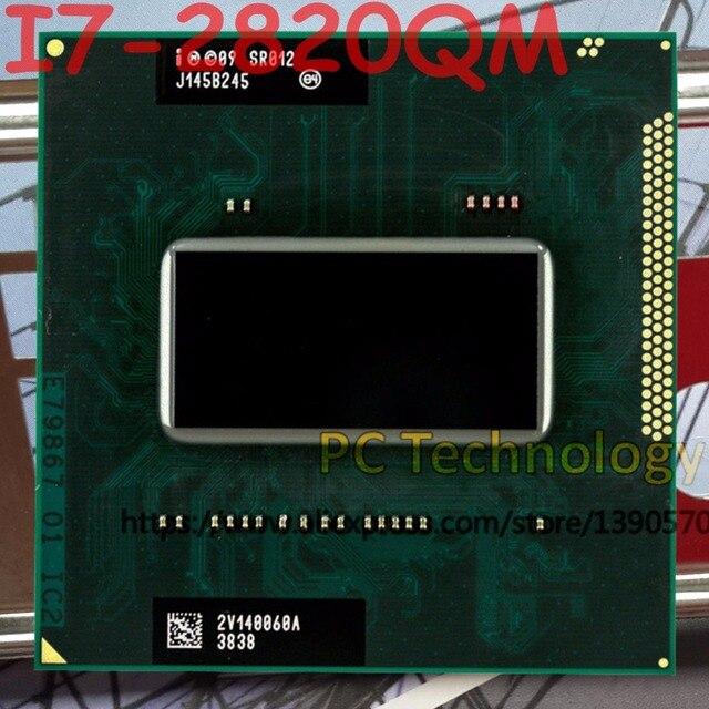 מקורי Intel Core I7 2820QM SR012 מעבד I7 2820QM מעבד FCPGA988 2.3 GHz 3.4 GHz L3 = 8M Quad  Core משלוח חינם