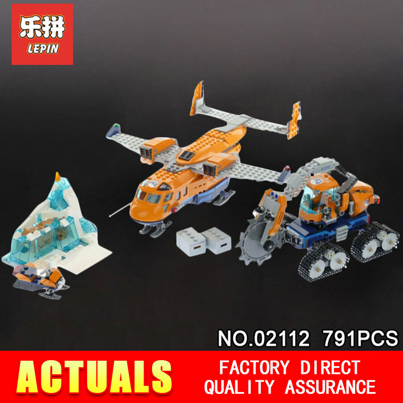 2018 New Lepin 02112 City Series Arctic Supply Plane Set Children Educational Toys Building Blocks Bricks Model Compatible 60196