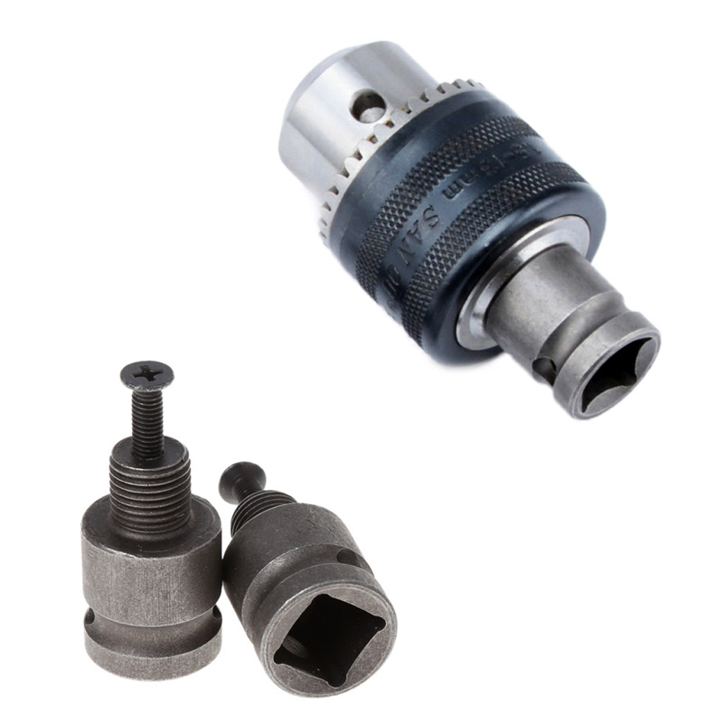 1/2'' Drill Chuck Adaptor For Impact Wrench Conversion 1/2-20UNF With 1 Pc Screw