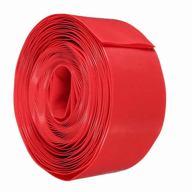 5 м (18650 18500 батарея) 29,5 мм плоская 18,5 мм круглый из ПВХ термоусадочная трубка наборы упаковки прозрачные 5 цветов Лучшая цена
