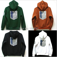 Attack on Titan Cosplay Costume Shingeki No kyojin Scouting Legion Anime Hoodie Sweater Green Black 9 Colors For Women Men