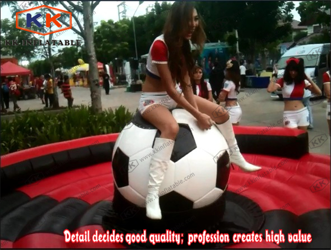 World Cup inflatable football soccer game machine mechanical rodeo football rock riding