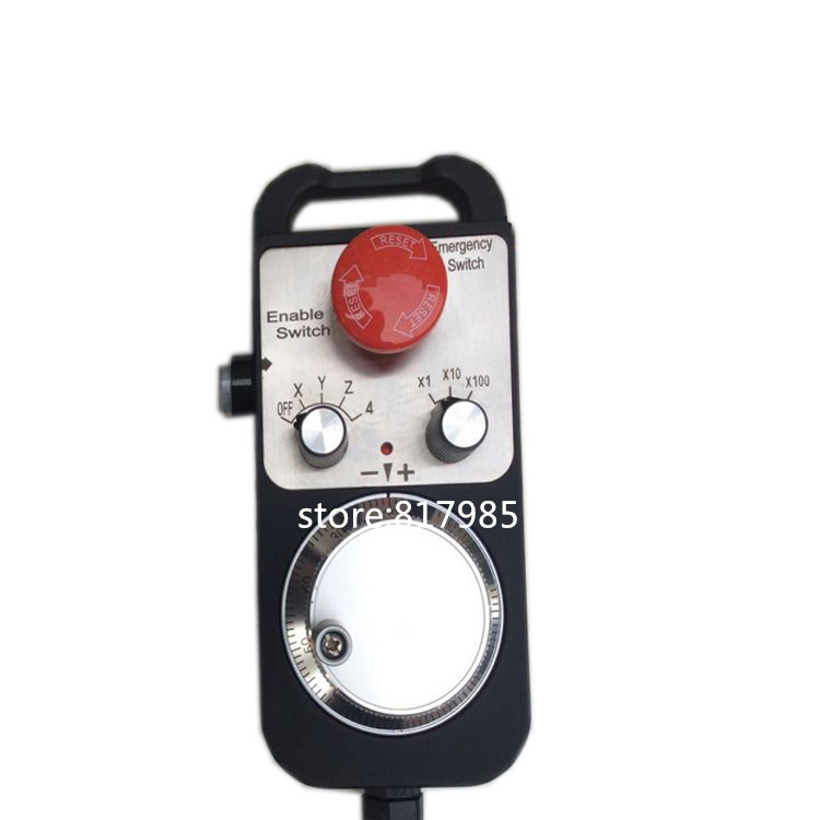 NC Pulse Generator 4 Axis MPG Pendant Handwheel with Emergency Stop manual pulse generator for Siemens