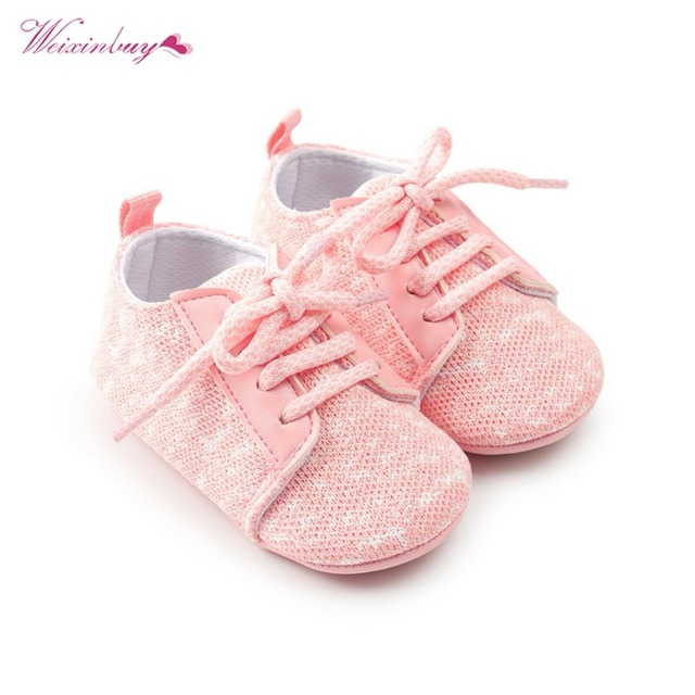 Baby Girl Shoes Riband Bow Lace Up PU Leather Princess Baby Shoes First Walkers Newborn Moccasins For Girls 3