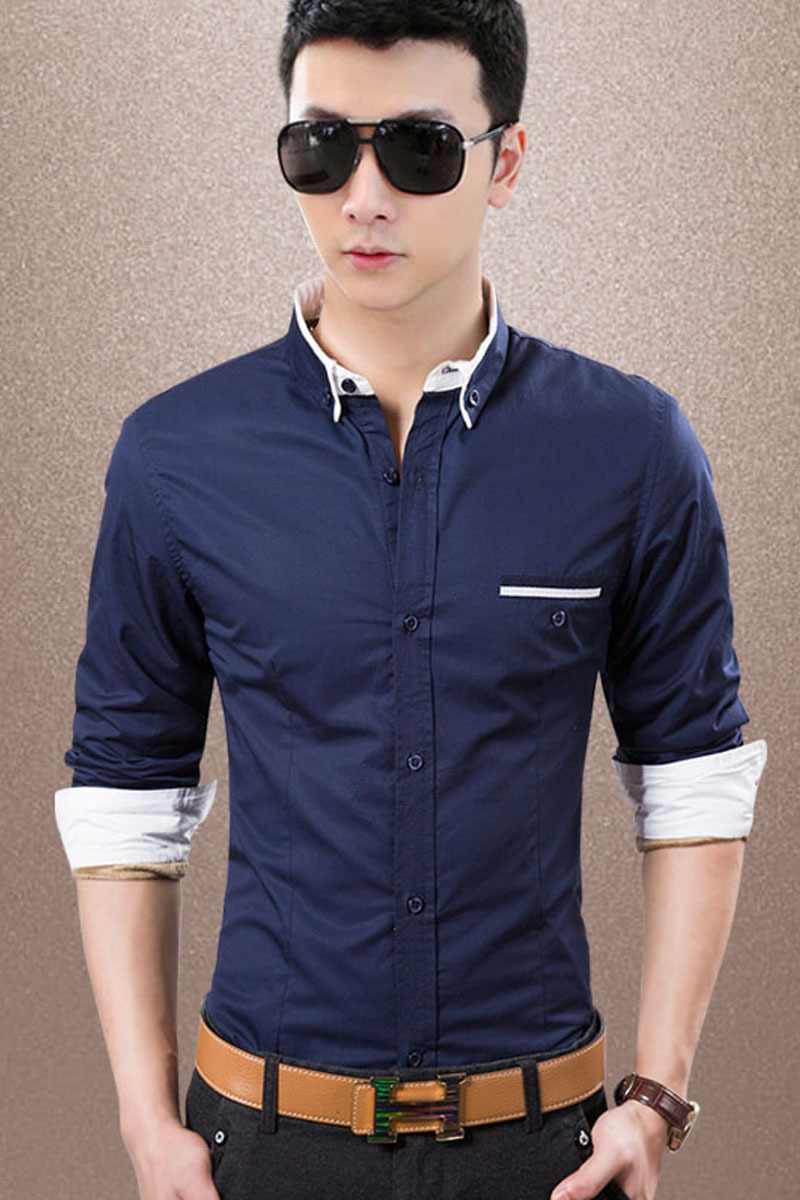 mens clothing fashion long mai 2015 spring men s shirts men burst