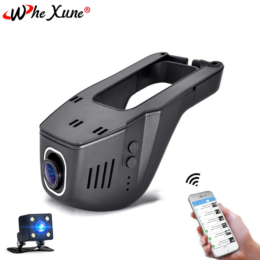WHEXUNE Car Dvr Camera Wifi Dash Cam FHD 1080P Novatek 96658 Sony IMX323 Dual Lens Mini Video Recorder 170 Degree Night Vision