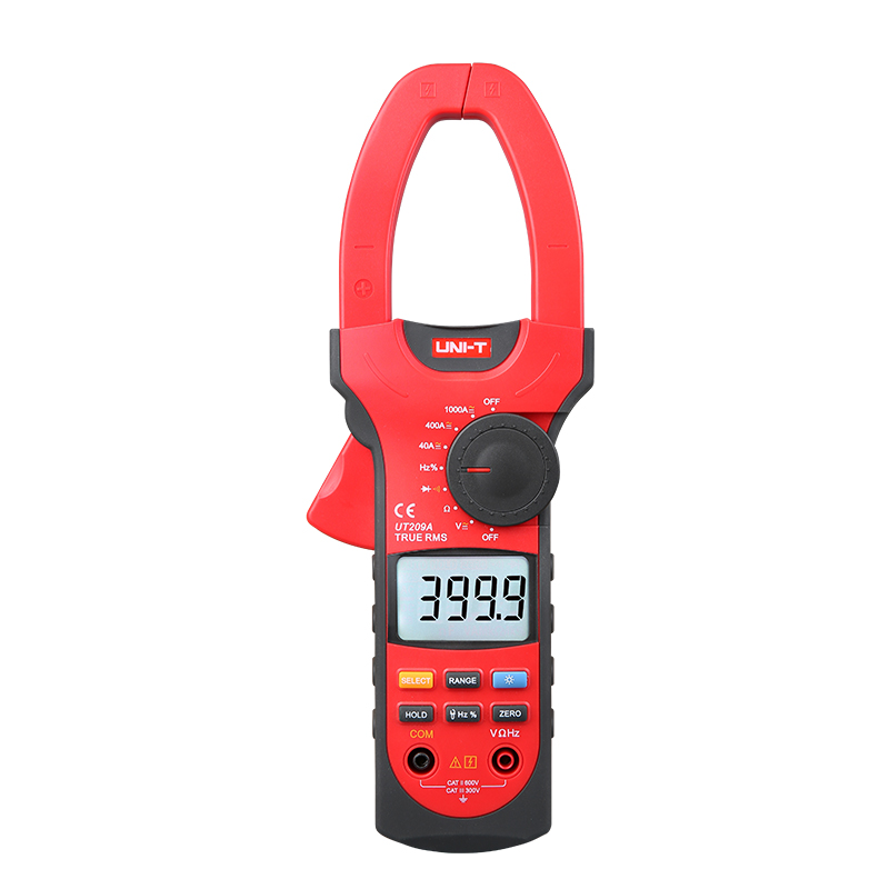 UNI T UT209A 1000A True RMS Digital Clamp meter 4000 count Auto/ Manual LCD Multimeter AC DC Volt Amp Ohm Frequency Diode tester uni t ut209a digital clamp meter multimeter professional 1000a true rms lcd multifuction ohm dmm dc ac voltmeter ac ammeter