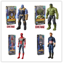 30cm Marvel Avengers Infinity War TITAN Thanos Spiderman Hulk Iron Man Captain America Thor Wolverine Action Figure Toys Dolls avengers infinity war thanos hulk black panther spiderman captain america iron man action figure marvel collectible model toys