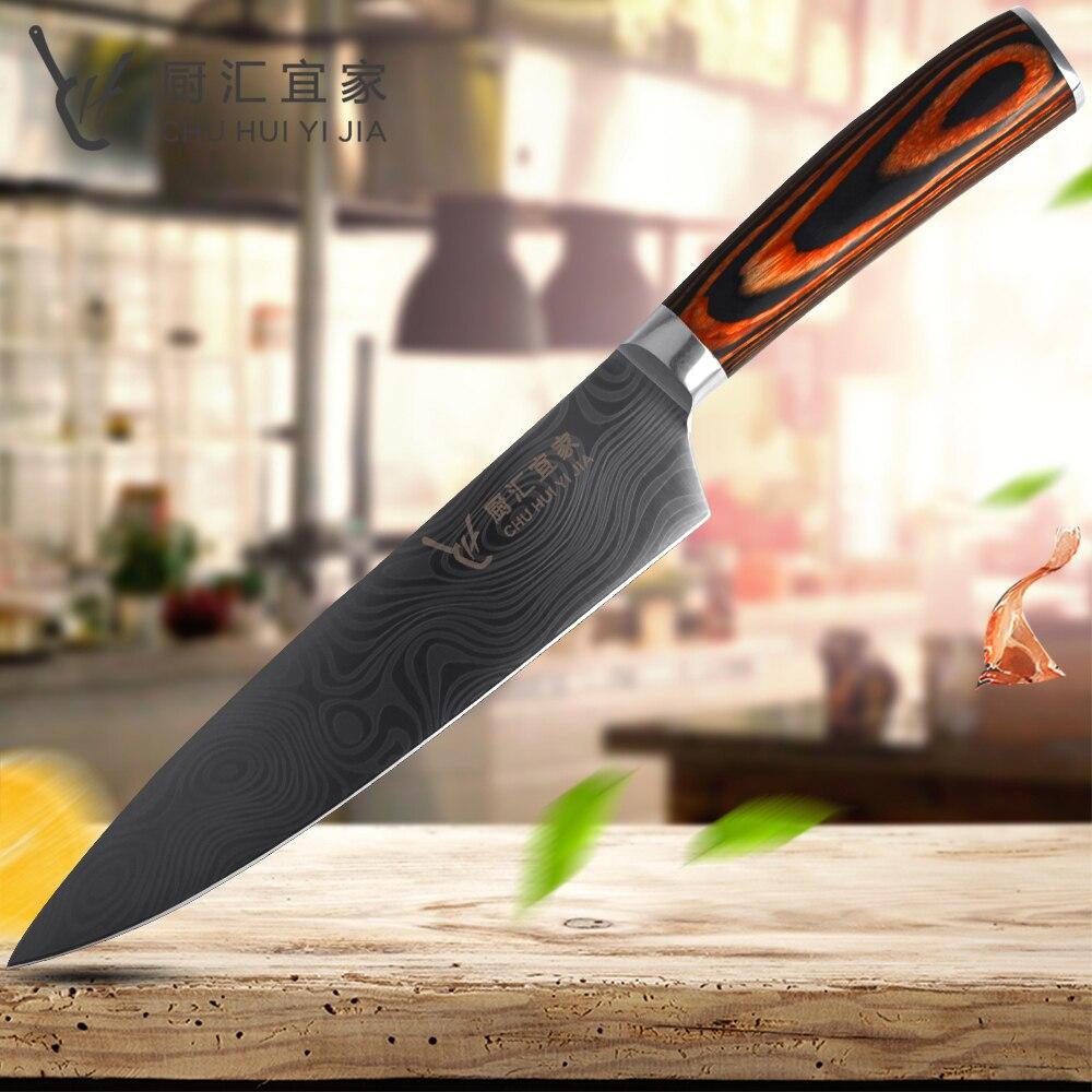 Vente Cuisine Couteau 8 Pouce Professionnel Chef Couteaux Imitation
