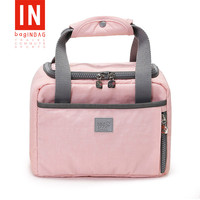 Tote Canvas Lunch Box Bag Cute Waterproof Aluminum Foil Food Bag Thicken Large Insulated Lunch Bag